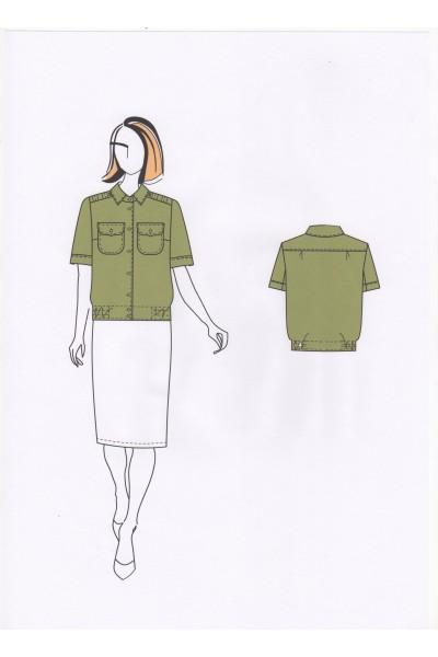 Блузка женская 0562, тип Б (форменная)