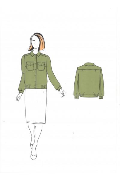 Блузка женская 0562, тип А (форменная)