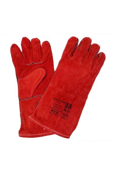 Перчатки кожаные красные