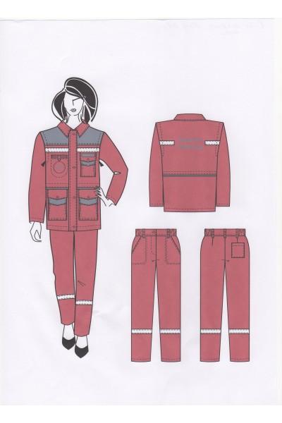 Костюм женский 0081 ( Скорая помощь)