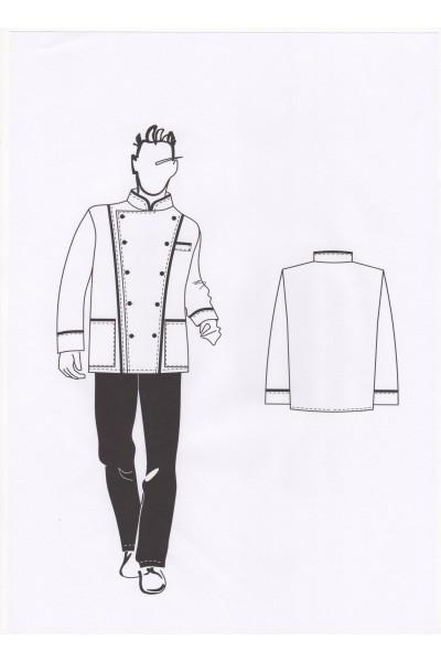 Куртка повара мужская 02-34-04