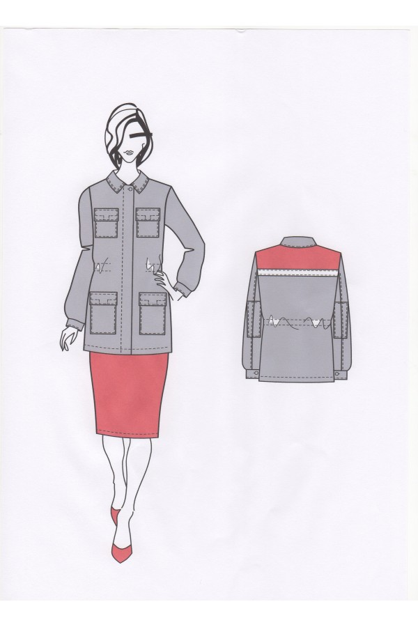 Куртка женская 0054А ПТУП Баркос ОО БелОИ
