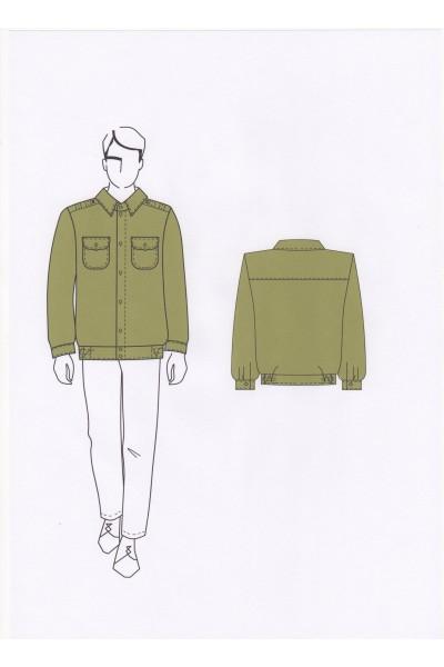 Сорочка мужская 02-21-04А (форменная)
