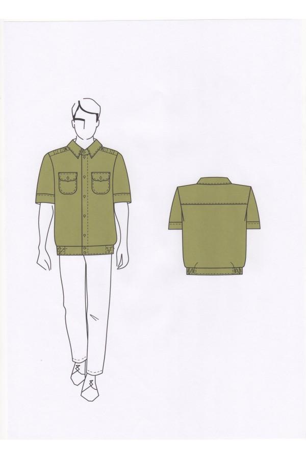 Сорочка мужская 02-21-04Б (форменная) пошив под заказ ПТУП Баркос ОО БелОИ