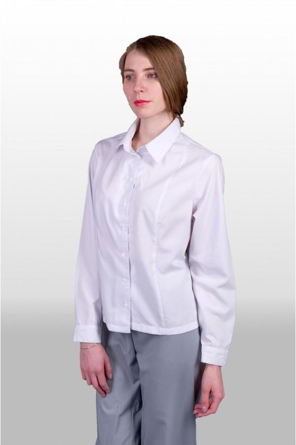 Блуза 552  белая, женская пошив под заказ ПТУП Баркос ОО БелОИ