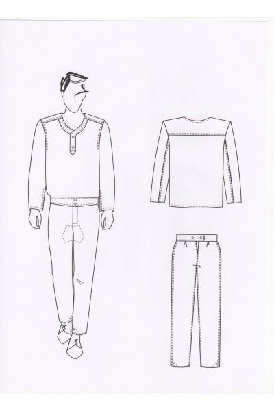 Нательное белье (рубаха, кальсоны)