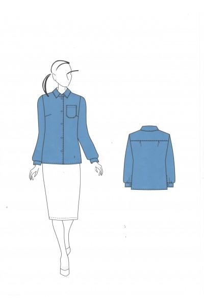 Блузка 0558 вариант 1