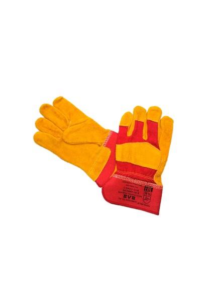 Перчатки кожаные с х-б вставками